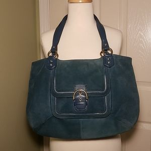 Coach Campbell Suede Carryall